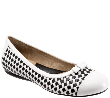 SoftWalk Woven Leather Flats - Naperville