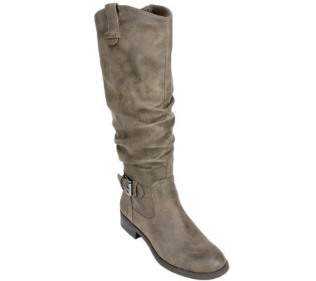 White Mountain Med and Wide Calf Tall Slouch Boots - Lady O