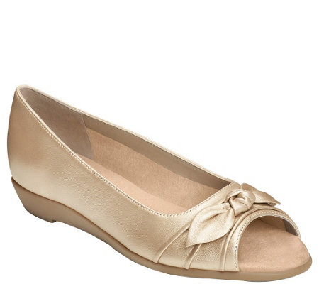 Aerosoles Leather Flats - Atta Girl