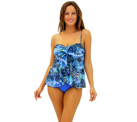 Fit 4 U Tummy Scattered Elements Twist BandeauTop