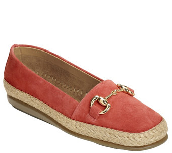 Aerosoles Stitch N Turn Suede Espadrille Flats- Solution - A340525