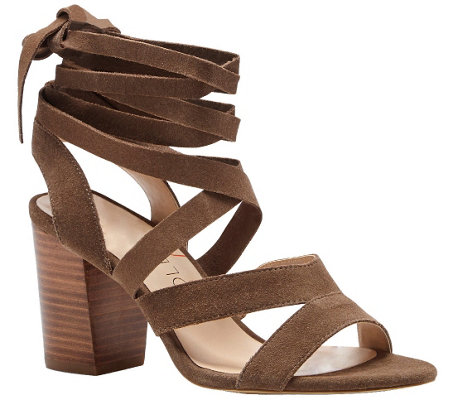 Sole Society Suede Wrap-around Strappy Sandal -Lyla