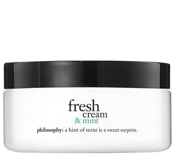 philosophy fresh cream and mint glazed body souffle, 8 oz - A340825