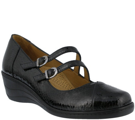 Spring Step Patent Leather Mary Janes -  Thorny