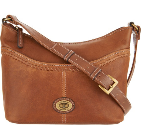 """As Is"" Tignanello Vintage Leather Convertible Crossbody"