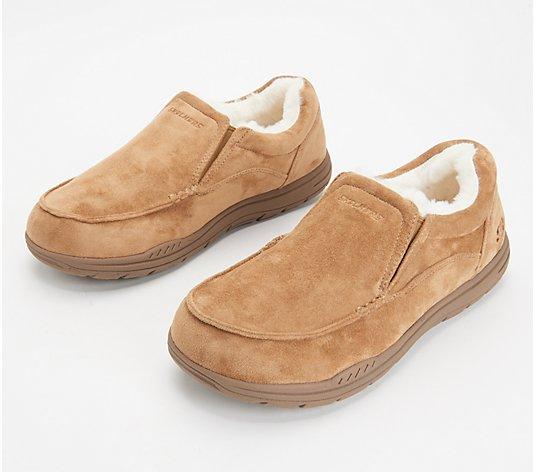 Skechers Faux Fur Men's Slippers - QVC.com