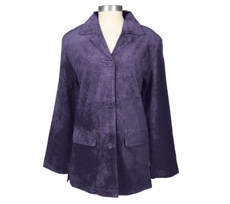 JessicaHolbrook Washable Suede Fully Lined Jacket