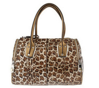 B. Makowsky Animal Printed Luxe Leather East/West Satchel - A212826