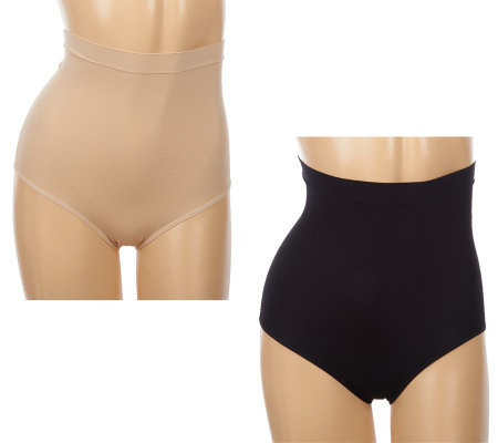 Genie Control Set of 2 Seamless High Waist Briefs