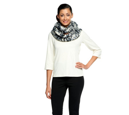 Isaac Mizrahi Live! Colorful Knit Eternity Scarf