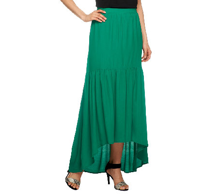 G.I.L.I. Regular Hi-Low Hem Woven Skirt