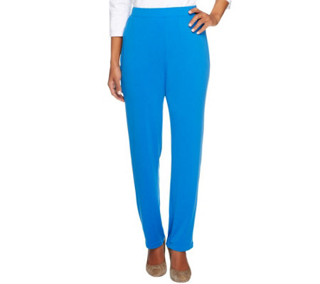 """As Is"" Susan Graver Essentials Liquid Knit Pants, Petite"