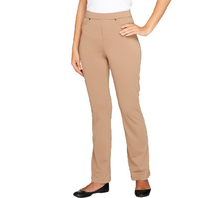 Susan Graver Regular Milano Knit Jean Style Boot Cut Pants