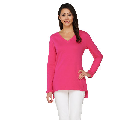 Isaac Mizrahi Live! Essentials Long Sleeve Hi-Low Tunic
