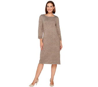 Liz Claiborne New York Essentials Bateau Neck Sweater Dress - A267426
