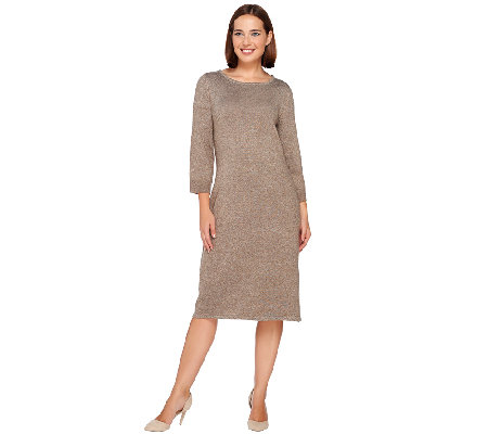 Liz Claiborne New York Essentials Bateau Neck Sweater Dress