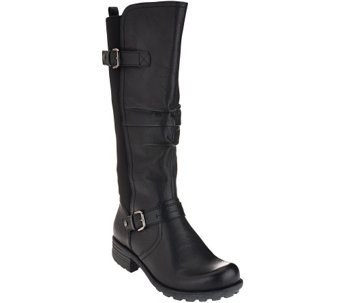 Earth Origins Leather Wide Calf Boots - Penelope - A267726