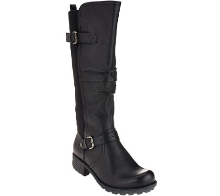 Earth Origins Leather Wide Calf Boots - Penelope