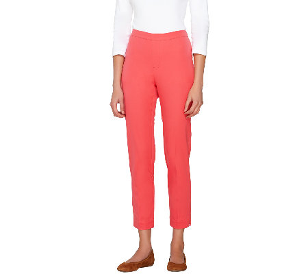 """As Is"" Isaac Mizrahi Live! Regular 24/7 Stretch Ankle Pants"