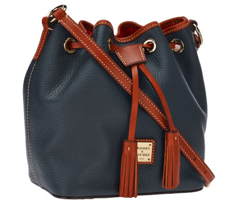"""As Is"" Dooney & Bourke Kendall Pebbled Leather Mini Drawstring Bag"
