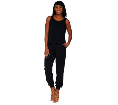 Lisa Rinna Collection Petite Banded Bottom Knit Jumpsuit