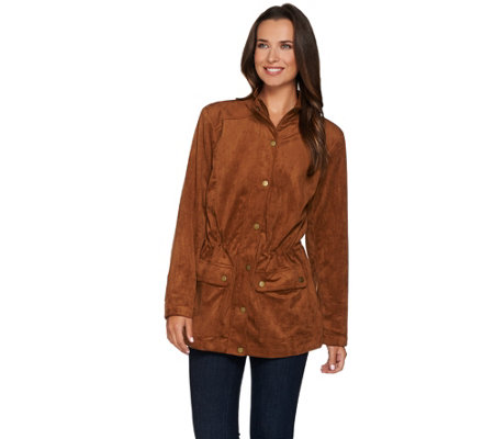 Linea By Louis Dell'Olio Faux Suede Anorak