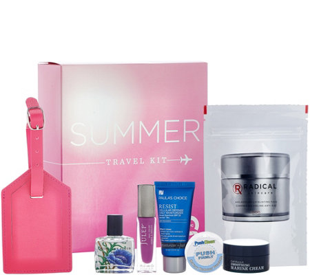 QVC Beauty Summer Travel Essentials 7 Piece Kit