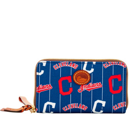 Dooney & Bourke MLB Nylon Indians Zip Around Phone Wristlet