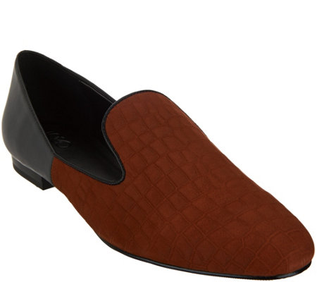 """As Is"" LOGO by Lori Goldstein Two-Toned Slip-On Loafers"