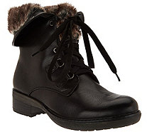 BareTraps Lace-up Boots with Faux Fur Lining - Henriette - A283426