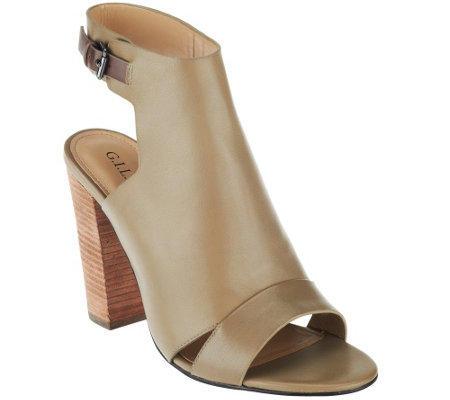 """As Is"" G.I.L.I Leather Ankle Strap Sandals - Preston"