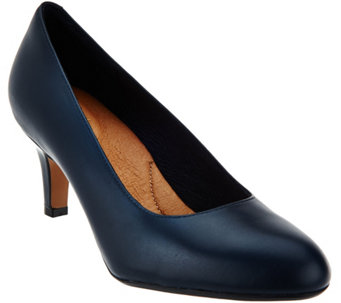 Clarks Artisan Leather Mid Heel Pumps - Heavenly Heart - A284726