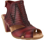 Earth Leather Peep-toe Sandals - Libra