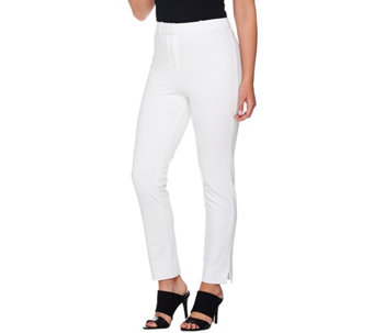 """As Is"" Shape FX Ponte Knit Pull-On Slim Leg Ankle Pants - A292726"