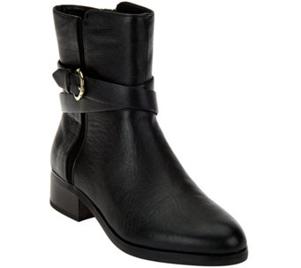 """As Is"" C. Wonder Tumbled Leather Mid-Calf w/ Buckle-Alexis - A293226"