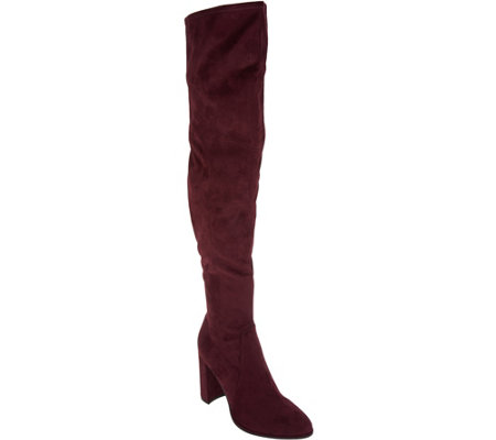 Marc Fisher Faux Suede or Glitter Fabric Thigh High Boots - Nella