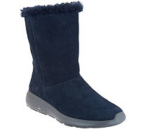 Skechers GOwalk Suede and Faux Fur Boots - Stunning - A295826
