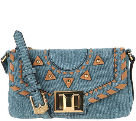 """As Is"" Aimee Kestenberg Pebble Leather Crossbody - Rio"