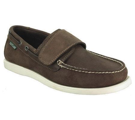eastland s brunswick slip on boat shoes qvc