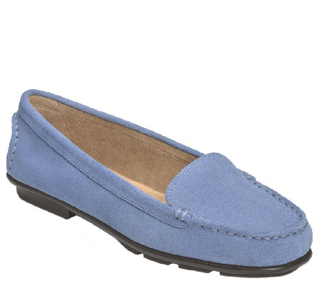 Aerosoles Stitch 'N Turn LeatherSlip On Loafers- Nu Day