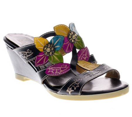 Spring Step L'Artiste Collection Dandy LeatherWedge Sandals