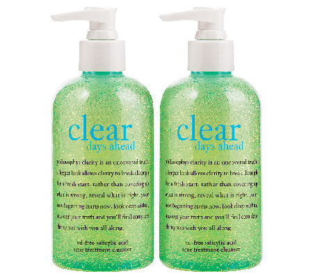 philosophy clear days ahead acne treatment cleanser duo