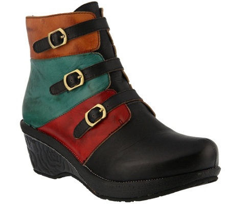 Spring Step L'Artiste Leather Ankle Boots - Bohani