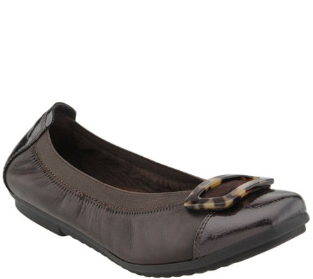 Earth Leather Slip-on Flats - Eclipse