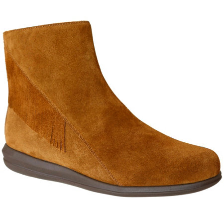 David Tate Leather Ankle Boots - Zest