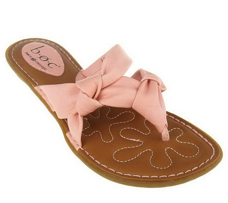 B.O.C. by Born Hanna Multi-Strap Knot Detail Thong Sandals