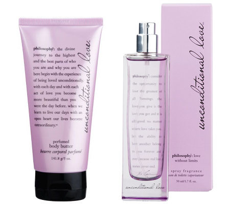 philosophy unconditional love fragrance and body butter duo
