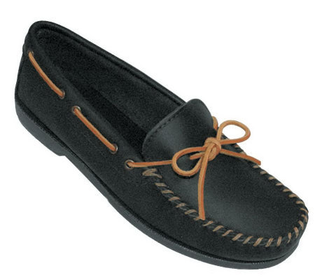 Minnetonka Men's Leather Camp XL Moccasins