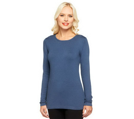 Linea by Louis Dell'Olio Posh Knit Jewel Neck Sweater