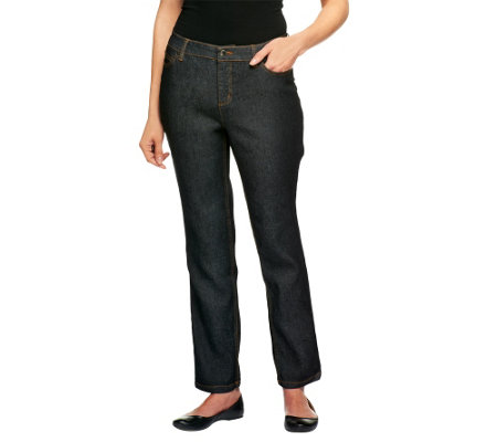 Liz Claiborne New York Regular Hepburn Slim Leg Denim Jeans